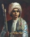 Elisabeth Jerichau Baumann - En tyrkisk pibedreng, Tschibuktschi.png