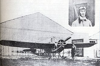 Nieuport IV - Emmanouel Argyropoulos and Nieuport IV.G Alkyon in which he made the first flight in Greece.