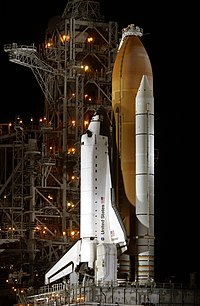 Endeavour on the launch pad prior to STS-113, Nov 22, 2002.jpg