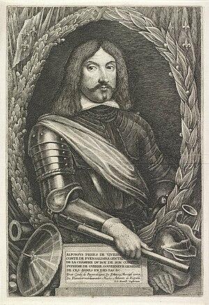 Alfonso Pérez de Vivero, Count of Fuensaldaña - Engraved portrait of the Count of Fuensaldaña by Lucas Vorsterman (I), produced ca. 1640-1661