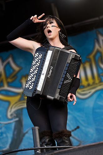 Ensiferum - Accordeonista Netta Skog at Rockharz 2016
