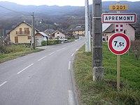 Entrée à Apremont (en Savoie).JPG