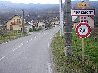 Apremont, Savoie - The road into Apremont