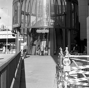 Tower Gateway DLR station - Image: Entrance to Tower Gateway station, Docklands Light Railway geograph.org.uk 668858