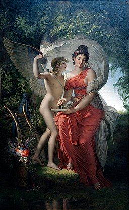 Erato, Muse of Lyrical Poetry - Charles Meynier