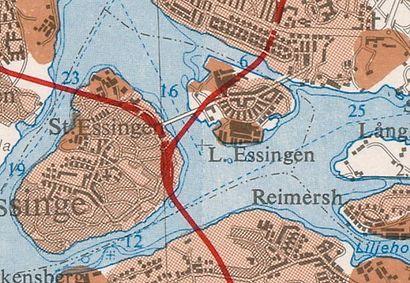 Vägbeskrivningar till Essingebron med kollektivtrafik