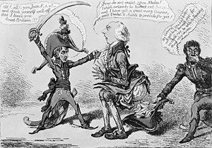 Malta Protectorate - 1803 cartoon about the evacuation of Malta