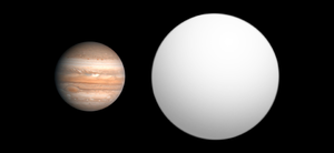 TrES-4b - Size comparison of TrES-4 with Jupiter