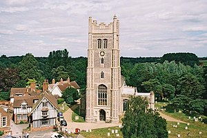 Eye, Suffolk - Image: Eye parish church of Ss. Peter & Paul from the castle geograph.org.uk 450641