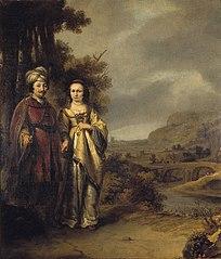 Echtpaar in een landschap