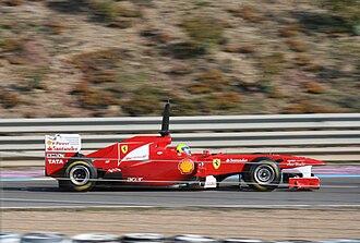 Ferrari 150° Italia - Felipe Massa during pre-season testing at Jerez in February 2011.