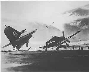 F6F-5P VP-23 crash USS Princeton CLV-23.jpg