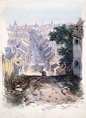 History of Montreal - Rue Saint-Dominique, 1866