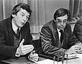 FNV-voorzitter Wim Kok (l) en loonsdeskundige Frans Drabbe tijdens een toelichti, Bestanddeelnr 932-4499.jpg