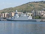FREMM multipurpose frigate Carlo Margottini (F 592) - Harbour of Reggio Calabria - Italy - 22 April 2016.jpg
