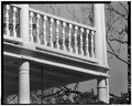 FRONT PORTICO ELEMENTS- COLUMNS, CORNICE AND RAILING - Hext House, 207 Handcock Street, Beaufort, Beaufort County, SC HABS SC,7-BEAUF,11-10.tif