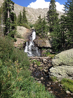 Willow Lake (Saguache County, Colorado) - Image: Falls below Willow Lake