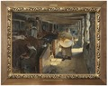 Feeding Time in a Cow-Shed (Oscar Björck) - Nationalmuseum - 18428.tif