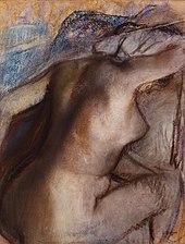 Edgar Degas, Après le bain, femme s'essuyant (vers 1884-1886, repris entre 1890 et 1900), Musée d'art moderne André Malraux - MuMa, Le Havre