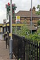 Fence and flowers, Blundellsands and Crosby Railway Station (geograph 2994497).jpg