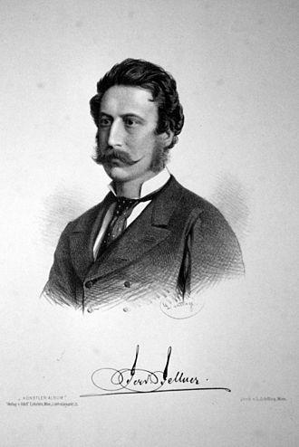 Fellner & Helmer - Image: Ferdinand Fellner der Jüngere Litho