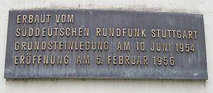 Fernsehturm Stuttgart - Image: Fernsehturm stuttgart plaque