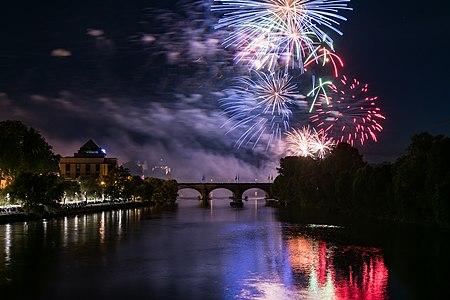 Fireworks for Bastille Day 2016 in Tours