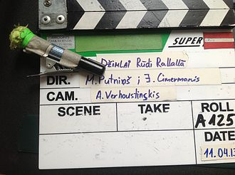 Marker pen - Whiteboard marker on a clapperboard.