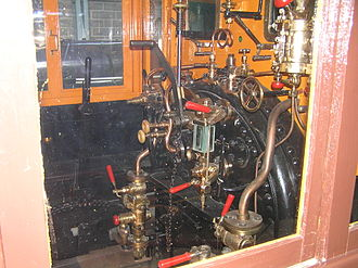Neilson and Company - The cab interior, on the same locomotive