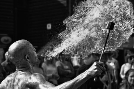 Fire Breather - 'Jack in the Green' May Day Celebrations, Hastings, May 2014 (17361331125).jpg