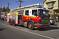 Fire and Rescue NSW SEV, Scania P94 Telesqurt Aerial Appliance on Morrow St.jpg