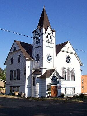 Brownsville, Oregon - Baptist church in Brownsville