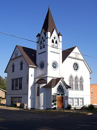 Brownsville, Oregon - Baptist church in Brownsville