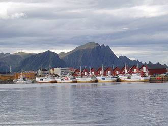 View of the local fishing boats Fishing Boats, Andenes.jpg