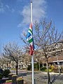 Flag halfway for the death of Mayor Pieter Smit, Winschoten (11 April 2018) 07.jpg
