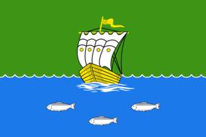 Zyryanka, Sakha Republic - Image: Flag of Zyryanka (Yakutia)