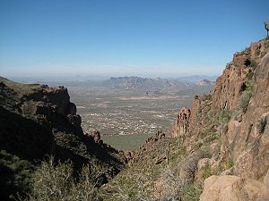 Superstition Mountains - View from the Flat Iron hiking trail, February, 2008