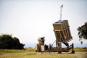 2011 in Israel - April 7: Israel succeeded, for the first time in human history, to intercept a short-range missile with the use of the advanced groundbreaking Iron Dome mobile air defense system.