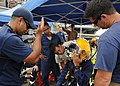 Flickr - Official U.S. Navy Imagery - A U.S. Navy Diver conducts pre-dive equipment checks during a joint diving exercise..jpg