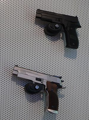 Bore-axis - Sig Sauer P226 is an example of a pistol with a high bore axis.