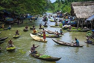 Jhalokati District - Image: Floating markets in Barisal