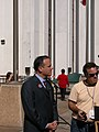 Florida Democratic Party chairman, Scott Charles Maddox, at the R.A. Gray Building plaza during the 2004 Presidential election.jpg
