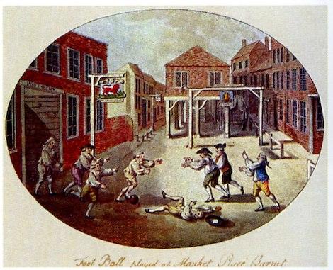 Football gravure 1750