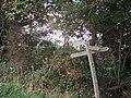 Footpath sign near St Philip Howard School, Barnham - geograph.org.uk - 576676.jpg