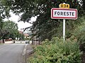 Foreste (Aisne) city limit sign.JPG