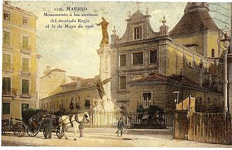 Monument to victims of the attack against Alfonso XIII - Image: Former Monument to victims of the attack of May 31, 1906 against Alfonso XIII