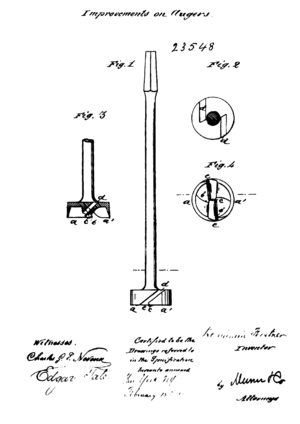 Benjamin Forstner - Drawing of his Forstner bit in his patent CA23548