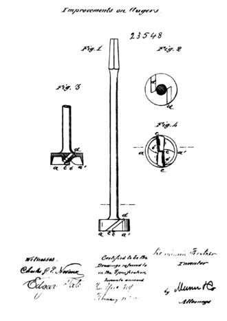 Benjamin Forstner - Drawing of his Forstner bit in his patent CA23548