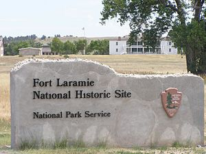 Fort Laramie National Historic Site - Image: Fort Laramie NHS Gate