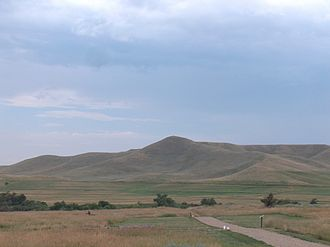 Wyoming Highway 193 - Nearby Pilot Hill from Fort Phil Kearny